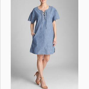 GAP Lace Up Short Dress XL Medium Indigo